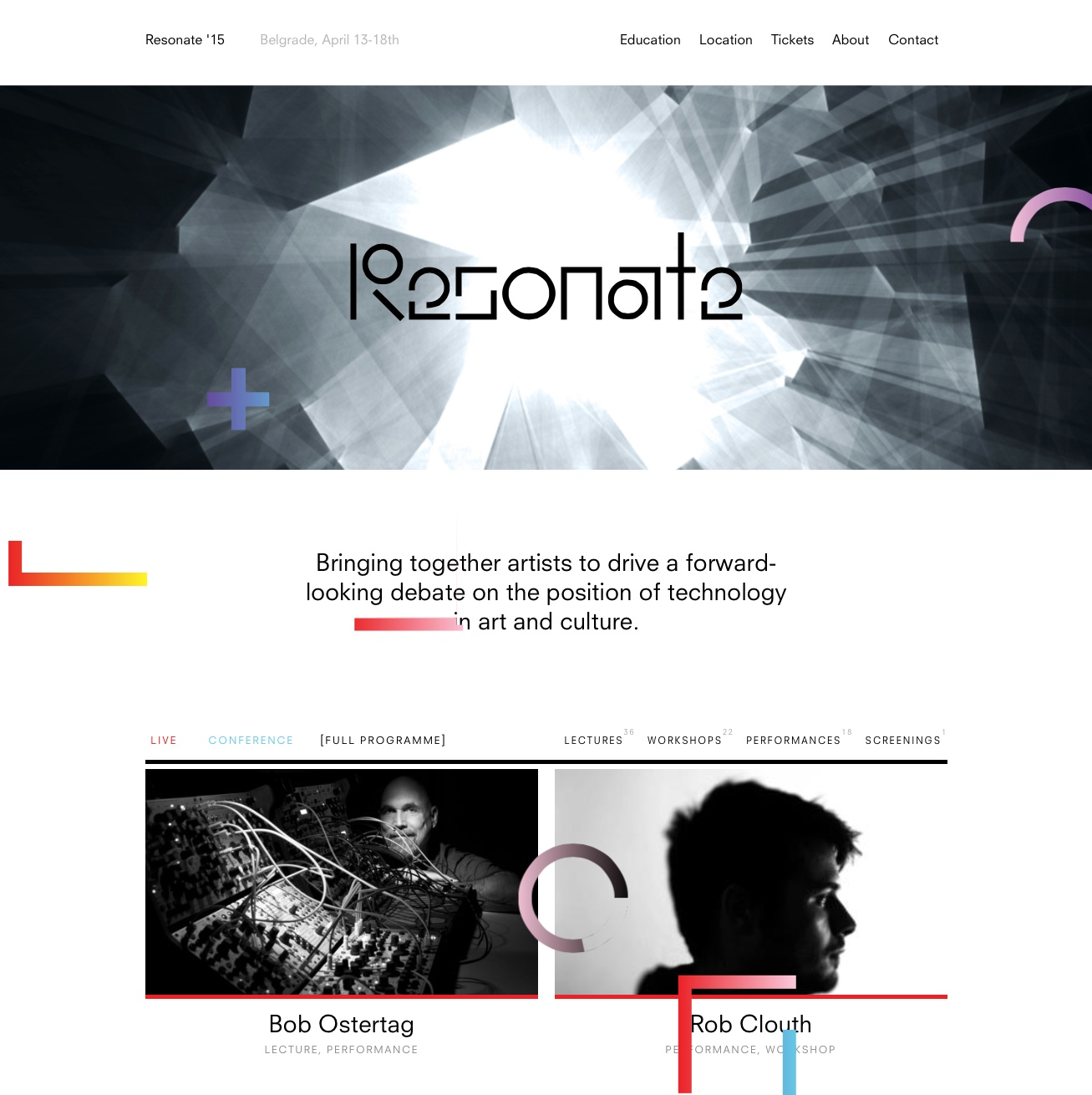 Festival Identity: Resonate homepage1 by FIELD.IO
